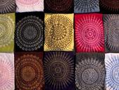色のファブリックのパターン — ストック写真