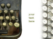 Old typewriter — 图库照片