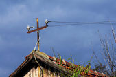Electricity in each rural house — Stock Photo