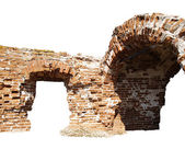 Ruins of brick arch — Stock Photo
