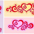 Heart with Patterns — Vector de stock #4774578