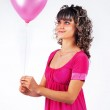 Young beautiful girl keeps the heart, love, Valentine's Day hol — Stock Photo #4778136
