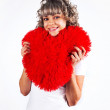 Young beautiful girl keeps the heart, love, Valentine's Day hol — Stock Photo #4778147