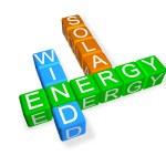Green Energy Crossword — Stock Photo