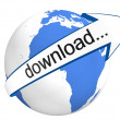 Global Download — Stock Photo