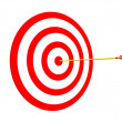 Arrow on Target - Stock Photo