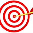 Arrow on Target — Stock Photo