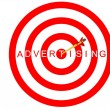 Advertising Target — Stock Photo