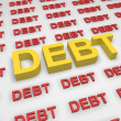 Debt concept — Stock Photo