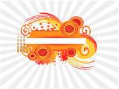 Bandera naranja — Vector de stock