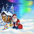 Illustration with SantClaus — Stock Photo #4389789