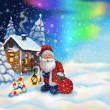 Illustration with Santa Claus — Lizenzfreies Foto