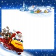 New Year's background Santa Claus - Stock Photo