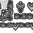 Stock Vector: Elements of lace