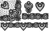 Elements of lace — Stock Vector