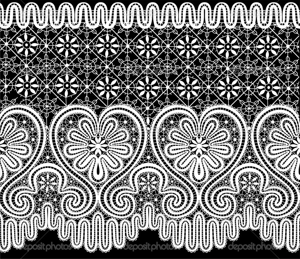 Vector lace elements in the form of heart  Stock Vector #4610190