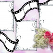 Wedding horizontal frame — Stockfoto