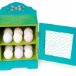 Stock Photo: Colorful easter egg holder