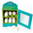 Stock Photo: Colorful egg holder