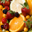 Stock Photo: Beautiful fruit background