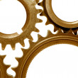 Golden gears — Stock Photo