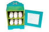 Colorful easter egg holder — Foto Stock