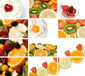 Colorful fruit composition — Stockfoto