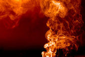 Flaming smoke — Stock Photo