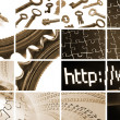 Tehcnology and communications composition — Stock Photo