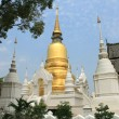 White and golden chedi - Stockfoto