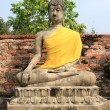 Seating Buddha image — Stock Photo
