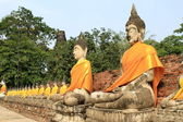 Seating Buddha images — Stockfoto