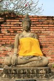 Seating Buddha image — Stockfoto