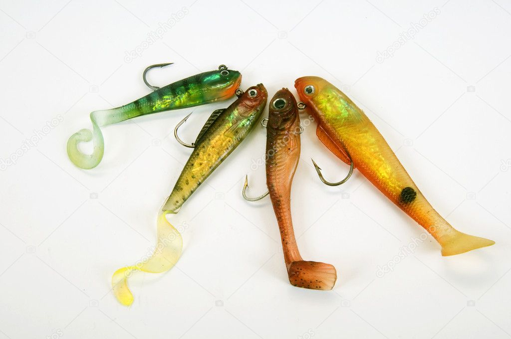 Fishing tackle insulated on a white background  — Stock Photo #3957124