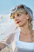 Mooie jonge vrouw bruid portret — Stockfoto