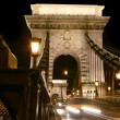 Stock Photo: Budapest, chainbridge entrance