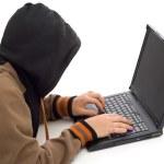 The hacker — Stock Photo