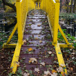 Yellow bridge - Stock Photo