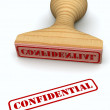 Confidential stamp - Stock Photo