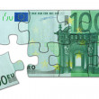 Euro puzzle - Stock Photo