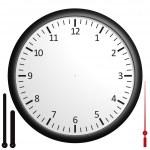 Customizable blank clock — Stock Photo