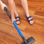 Floor cleaning — Stock Photo