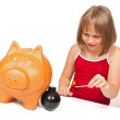 Exploding the piggy bank — Stock Photo #4018852