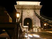Budapest, chainbridge entrance — Stock Photo