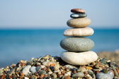 Stacked pebbles — Stock Photo
