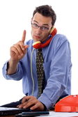Talking on the phone — Stock Photo