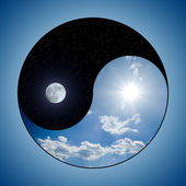 Yin & Yang - Day & Night — Stock Photo