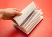 Book leafing — Stock Photo