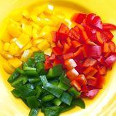 Sliced bell pepper — Stock Photo
