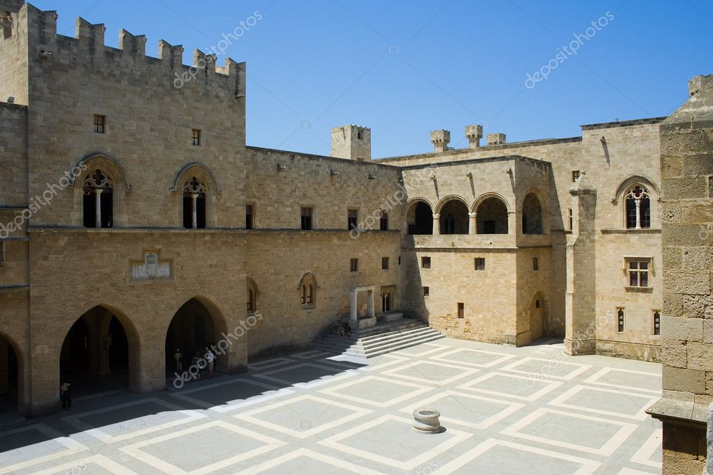 Inside the Palace of The Grand Masters, Rhodes, Greece — Stock Photo #4017544